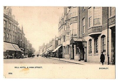Old Postcard Bell Hotel & High Street Bromley Kent