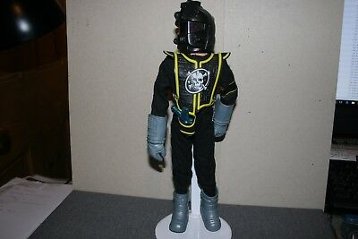 Vintage Palitoy Action Man Zargonite Space Pirate Flock Hair - Stand is Included
