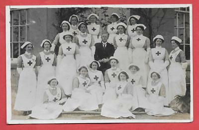 Ww1, Nurses & Doctor At Hornby Castle, Nr. Bedale / Catterick, Rp.