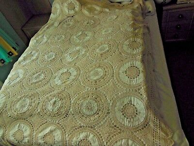 """Vintage Embroidered Table Cloth  54"""" x 80""""  - Perfect for Christmas Dinner!"""
