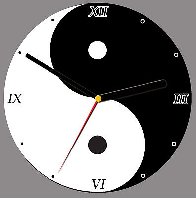 Yin and Yang CD Clock, free stand can be personalised