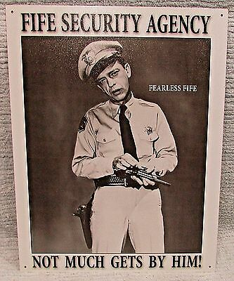 Fearless Fife Security Agency 12x16 Tin Metal Black White Photo Sign FREE S/H