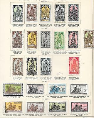 Upper Volta stamps 1928 Collection of 22 stamps HIGH VALUE!