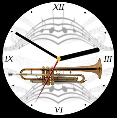 Trumpet CD Clock, free stand can be personalised