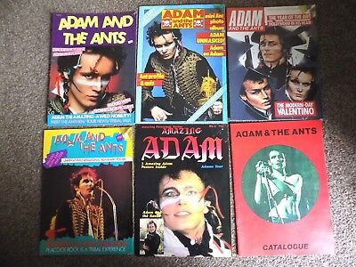 Classic Big Lot Of 6 Vintage Adam & The Ants Postermags