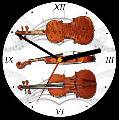 Violin CD Clock, free stand can be personalised