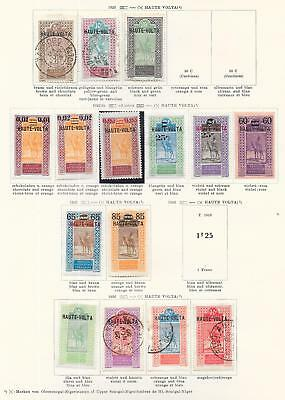 Upper Volta stamps 1922 Collection of 15 stamps HIGH VALUE!