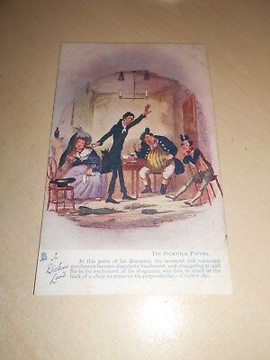 EARLY 1900s TUCK OILETTE PC - IN DICKENS LAND - THE PICKWICK PAPERS (4) - VGC