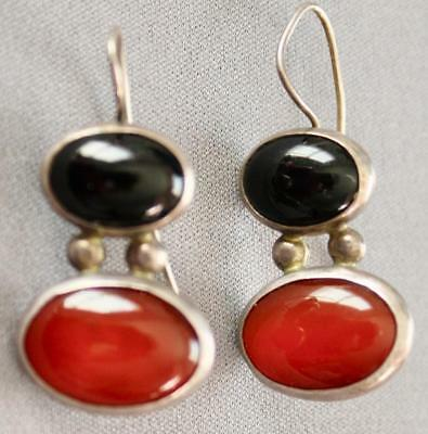 a Set ofVintage, STERLING  EARRINGS Hand made by Pipis
