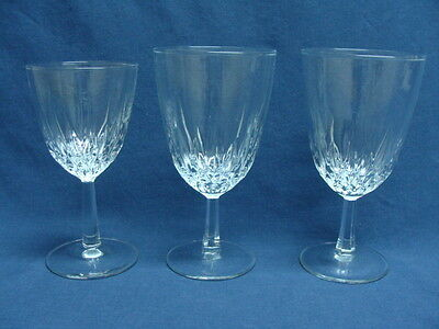 Crystal Cristal D'Arques Diamant (Diamond) 2 Large Water Goblets & 1 Wine Goblet
