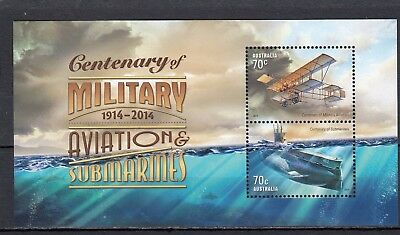Australia - Sgms4212 Mnh 2014 Centenary Military Aviation & Submarines