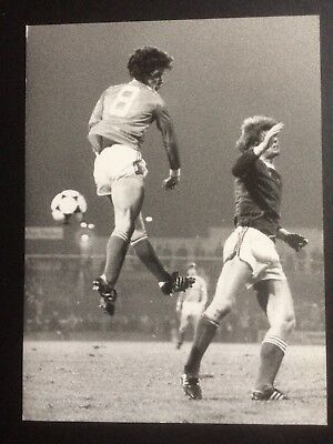 Original press photograph Mark Hughes Manchester United, Wales v Iceland 1984