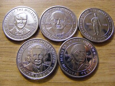 A Collection of 5 Makers of the Millennium Tokens - Nice condition