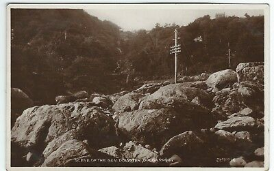 Real Photo Postcard Scene of the 1925 Dolgarrog Dam Disaster Conwy