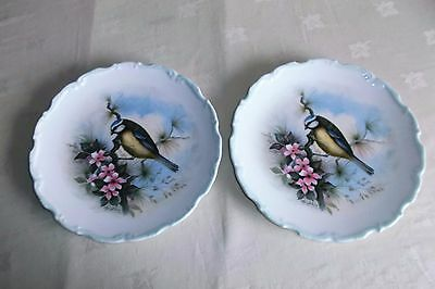 Pair of Royal Albert WOODLAND BIRDS Plates.