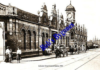 Leicester's Great Central Station Facade: 1902