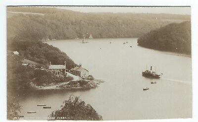 RP Postcard Peeps on the Fal Malpas Ferry published in Cornish Riveria Series