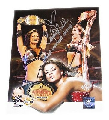 Wwe Candice Michelle Signed Autographed 8X10 Photo File Photo With Proof 8