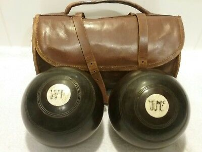 Two Vintage Wooden Bowls And Bag