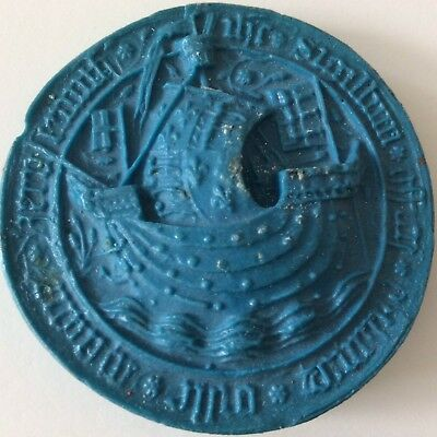 Wax Seal Copy From Original Hand Made Bailiff of Great Yarmouth Mid 15 Century