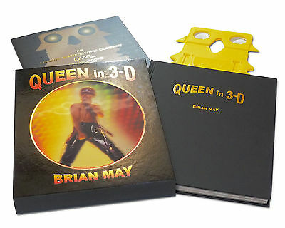 Queen In 3D Stereophonic Hardback Book New Sealed Brian May Freddie Mercury 3-D