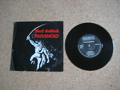 """Black Sabbath 7""""single Paranoid with picture sleeve 1983 reissue"""