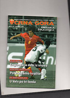 2011 Euro 2012 Qualifier Montenegro v England/Switzerland Football Programme