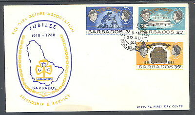 Barbados FDC Girl Guides Association Jubilee 1968
