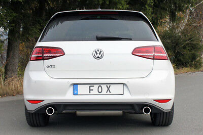 Fox Stainless Steel Racing System VW GOLF VII 2.0L GTI 195kW 228kW RE / Li