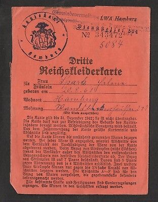 100% original German ww2 Reich Ration Card  document -wehrmacht