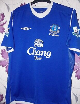 "Umbro Everton fc vintage home shirt 2005  Beattie 8 size on tag uk med 42"" APP"