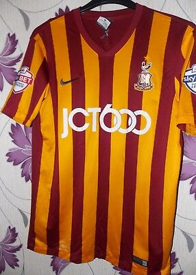 "Nike Bradford Home shirt 2014-2015 Maclean 7 size on tag medium 40 "" app"