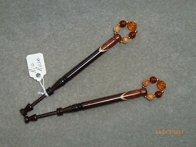 Lacemaking Lace Bobbins Pair Spliced Rosewood