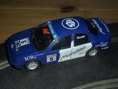 Scalextric vintage Ford Mondeo touring car # 5 Superb with front + rear lights