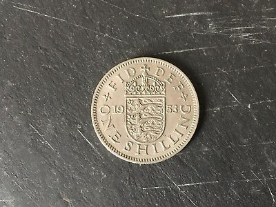British Shilling 1953 Elizabeth II - Coronation Year