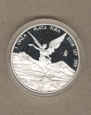 2008 Mexico Proof One Ounce Silver Libertad Coin