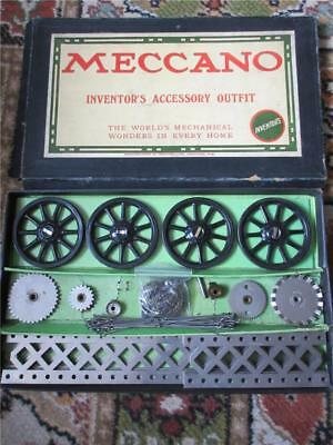 ANTIQUE MECCANO INVENTORS ACCESSORY OUTFIT - COMPLETE & BOXED c1915!