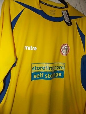 "Mitre new tagged Accrington Stanley away shirt 2014-2015 size Large 44"" chest"