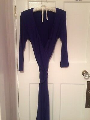 Isabella Oliver Maternity Purple Wrap Dress. Size 10.