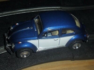 Scalextric conversion old type VW Beetle car Blue & white MINT Also on buy now