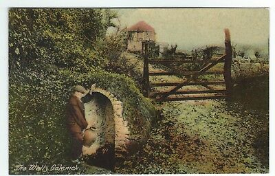 Early Postcard The Well Calenick Hamlet near Truro Cornwall