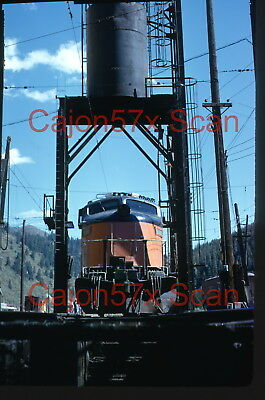 Original slide- MILW Little-Joe Electric E78 Under Sand Tower At Avery, ID. '73