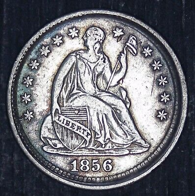 1856-P U.S. Seated Liberty Half Dime Silver 5 Cents Coin - HIGH QUALITY