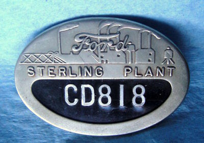 Vintage FORD STERLING HEIGHTS Factory Employee Badge: