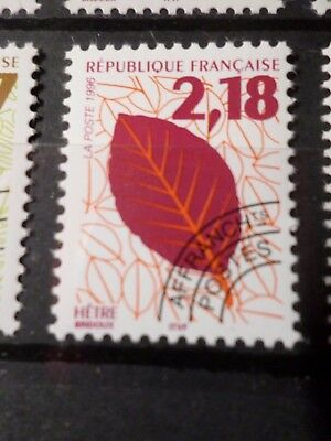 FRANCE, 1996 timbre PREOBLITERE 237, FEUILLES ARBRES, neuf**, VF MNH STAMP, LEAF