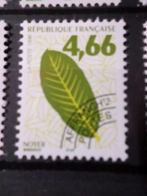 FRANCE, 1996 timbre PREOBLITERE 238, FEUILLES ARBRES, neuf**, VF MNH STAMP, LEAF