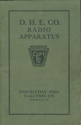Early 1920's Vintage Radio Catalog #2 Doubleday Hill Pittsburgh Grebe, Acme etc
