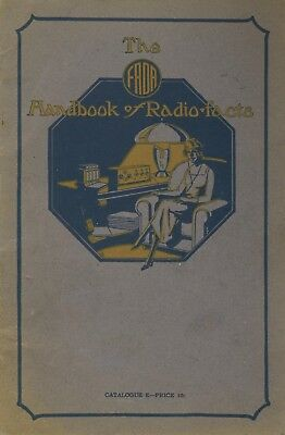 First Fada Radio Catalog 1922 Rare Early Vintage Antique 0ld Radio 140A and more
