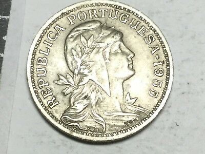 PORTUGAL 1955 50 Centavos coin very nice condition