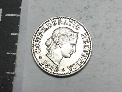 SWITZERLAND 1932 10 Rappen coin extra fine condition